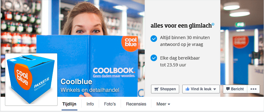 Coolblue - Facebook reactie policy