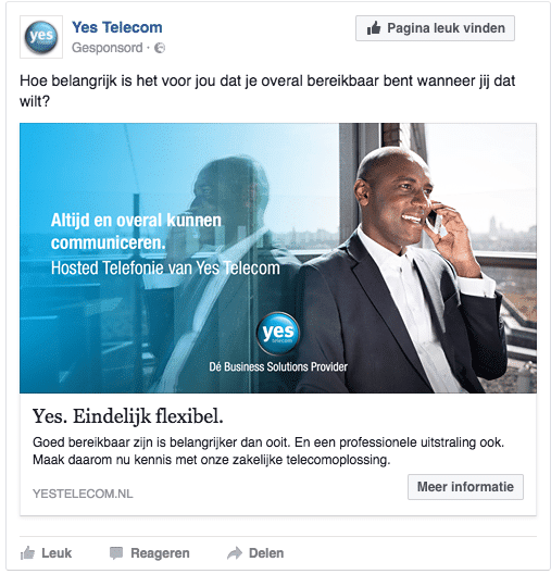 Facebook conversie advertentie