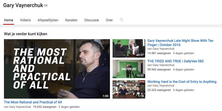 Gary Vaynerchuck online vlog weblog succes