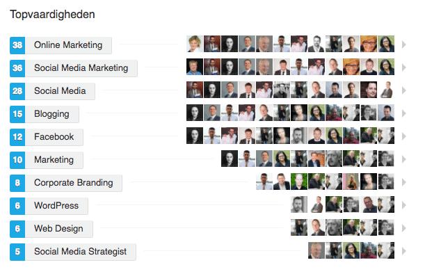 LinkedIn marketing endorsements en aanbeveling