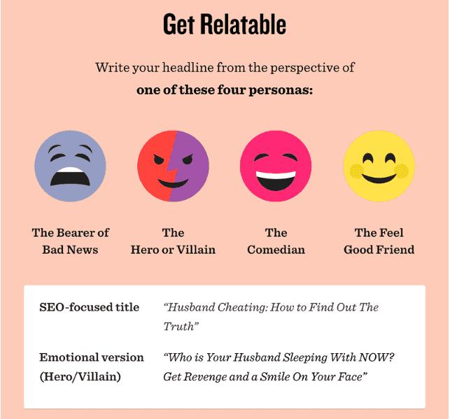 Persona Emotie Power woorden online marketing ctr