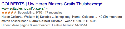Zoekmachine marketing fout