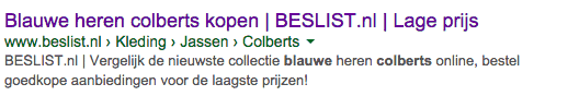 Zoekmachine marketing juist