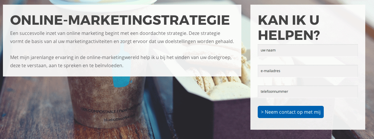 Contactformulier online-marketingstrategie