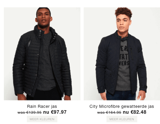 Superdry euro teken bij prijzen - media psychologie