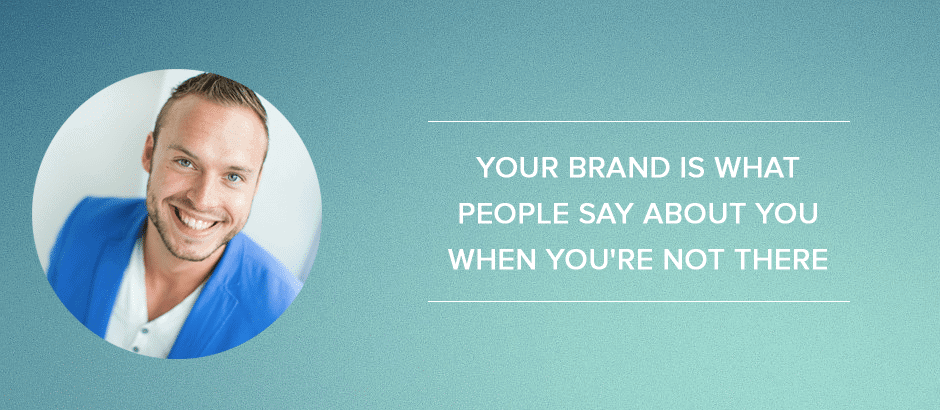 Online-marketingplan: Your brand is what people say about you when you're not there