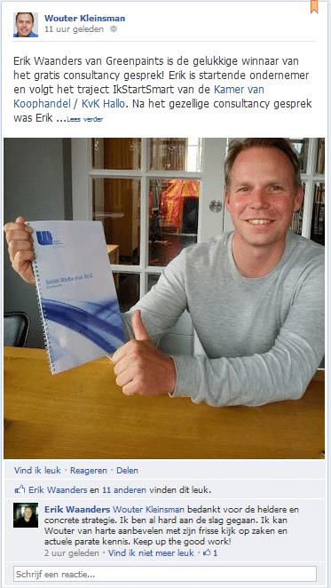 Social media marketing winnaar Erik Waanders