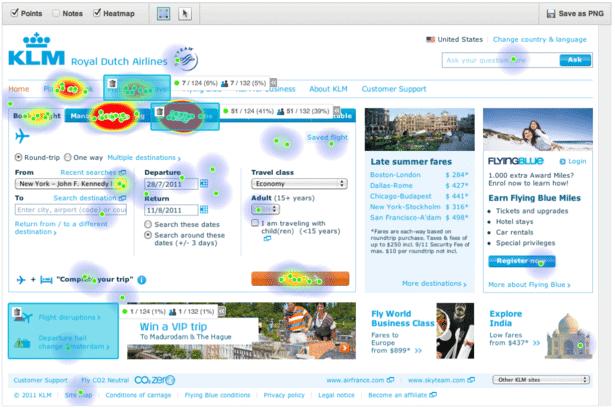 Heatmap - KLM