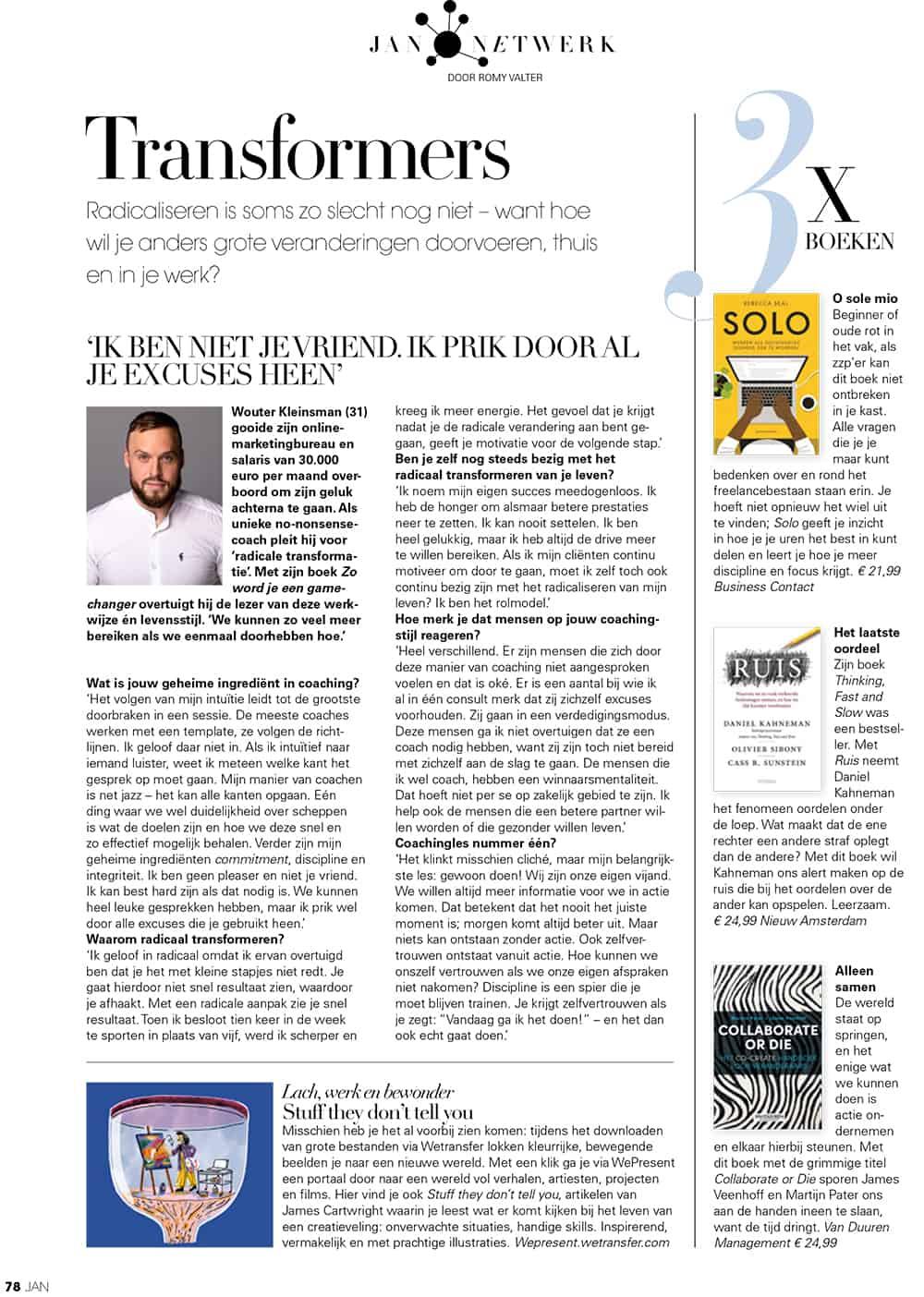 Jan Magazine Wouter Kleinsman